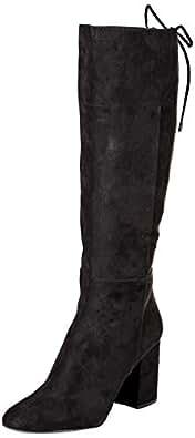 Kenneth Cole New York Corie 女士时尚系带靴 黑色 6.5