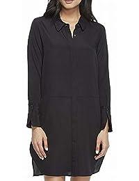 Halston Heritage 女式长袖宽袖口衬衫