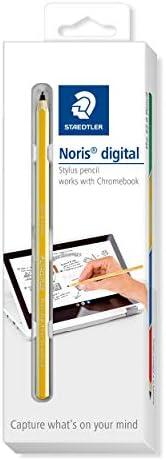 Staedtler 18022G-1 Noris 数字 适用于 Chromebook EMR 触摸笔 细触屏笔 带 0, 7 毫米笔尖 黄色 黄色