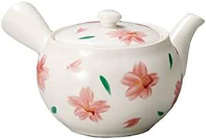 Yamakiikai 茶壶 白色 290cc 白磁樱花绘 茶壶 L930