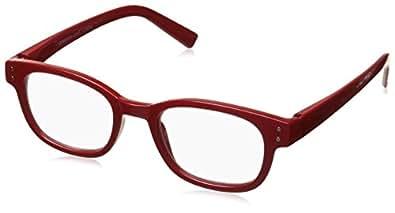 Peepers 中性成人声音校验 2168175 圆形老花镜,红色