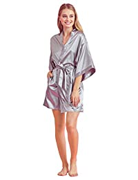 女式缎面新娘长袍 – 优雅丝绸和服 – 性感内衣睡衣