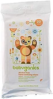 BabyGanics 无酒精洗手湿巾 柑橘味 便携装 20包密封装