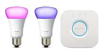 Philips 飞利浦 秀 白光和彩光氛围照明 迷你入门套件,E27, 10 W