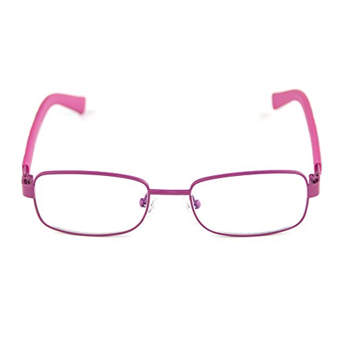 Cyxus美国赛施 平光防辐射眼镜儿童防蓝光男女款电脑护目镜无度数抗疲劳 粉红色框架