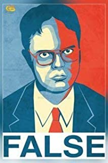 Get Motivation False Dwight Schrute The Office 海报印刷品(40.64 x 63.5 厘米,卷边)印花贴纸复古无框墙壁艺术礼物 40x63cm