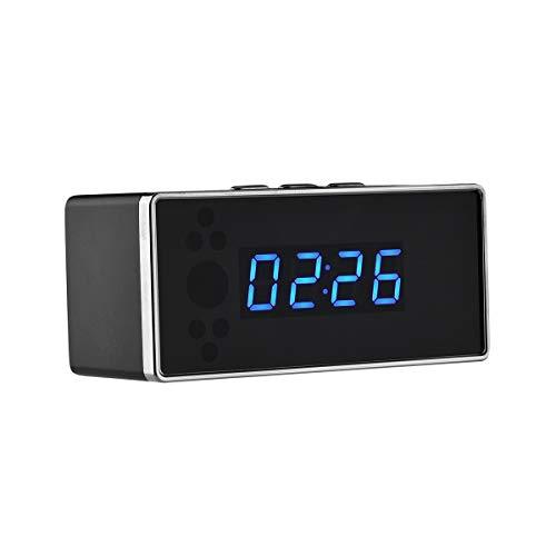 Bareasマイクロネットワークカメラ目覚まし時計カメラ携帯電話アプリリモート監視wifiポータブルカメラミニビデオカメラ迷彩隠しショップホームセキュリティ監視(32GBメモリ、1080Pミラー目覚まし時計)