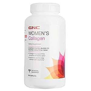 GNC 健安喜 女性胶原蛋白营养片 180片/瓶 平皱嫩滑透白肌肤 美国品牌 包税