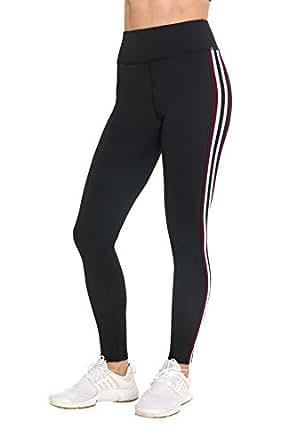 BLIS 女式高腰收腹健身运动瑜伽七分裤和紧身裤,新款 Red, Burgundy Large