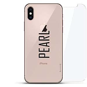 奢华隐形,酷炫设计,钢化玻璃背板,360 度保护膜,适用于 iPhone Xs MaxLUX-IMXGL360-NMPEARL2 NAME: NAME: PEARL, MODERN FONT STYLE 透明