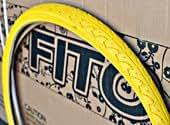 Duro Patterned Tread Bicycle Tire, 26 x 1.50 - YELLOW, for Beach Cruiser Bikes & Mountain Bikes