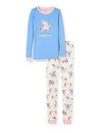 Hatley 女童有机棉长袖贴花睡衣套装,