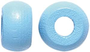Shipwreck Beads Preciosa 捷克传统不透明木制钩珠,6 x 10 毫米,浅蓝色,180 个装