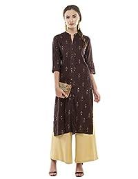 Lagi 女式设计师直筒 A 字型宽松长衫束腰连衣裙丝绸棉