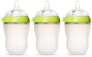 COMOTOMO 可么多么 自然觸感嬰兒奶瓶,3件裝(綠色,8盎司(約240ml))