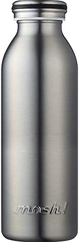 DOSHISHA mosh! 真空隔热 旋转型保温瓶  银色 0.45L DMMB450SV
