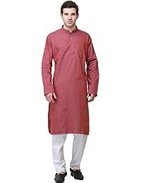 Exotic India Plain Khadi Kurta 白色睡衣套装