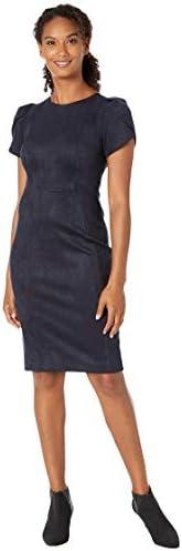 Calvin Klein 女士郁金香袖缝紧身衣,