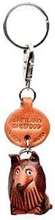 Shetland 牧羊犬皮革小狗钥匙链 VANCA CRAFT - 可收集钥匙圈吊坠,日本制造
