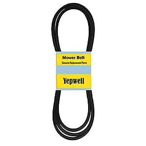 YepWell 割草机 PTO 替换带适用于 Cub Cadet 754-3055A 954-3055A,5/8 英寸 X 112 1/4 英寸