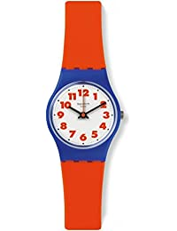 Swatch LS116 Women's Archi-Mix Waswola White Dial Red Silicone Strap Watch