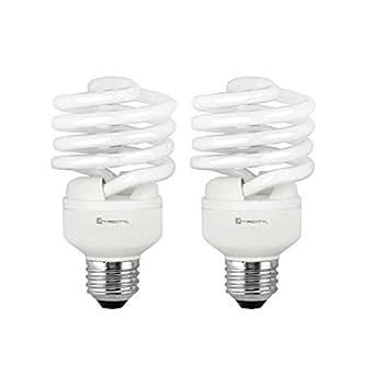 Xtricity 紧凑型荧光 T2 CFL 螺旋节能器,23W(相当于 100W )120 伏,1600 流明,2700K 柔白,E26 中等底座,符合 RoHS 标准和 UL 认证,2 个装) 2700K Soft White 2组 1-60202