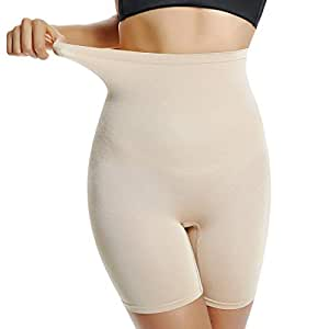 Shapewear 女士大腿修身低腰内裤塑身内衣平角内裤 Beige-light Control Small