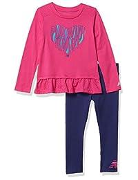 New Balance 女童长袖上衣和打底裤套装