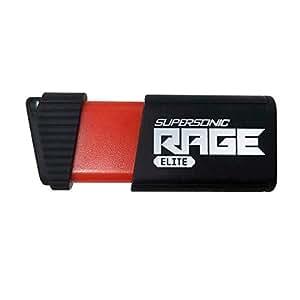 Patriot Supersonic Rage Elite USB 3.1 Type A,USB 3.0 闪存驱动器传输速度高达 400MB/秒。PEF256GSRE3USB