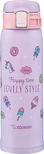 [Zojirushi 象印] 水杯 直饮 保温杯 不锈钢女孩保温杯 0.48升 甜点紫色 SM-SG48-VZ