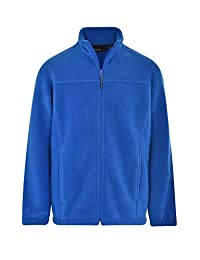 Swiss Alps 男孩全拉链性能摇粒绒夹克运动衫,带口袋