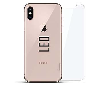 奢华隐形,酷炫设计,钢化玻璃背板,360 度保护膜,适用于 iPhone Xs MaxLUX-IMXGL360-NMLEO2 NAME: NAME: LEO, MODERN FONT STYLE 透明