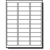 """MFLABEL 标签 30 张 易撕 地址标签 1""""x2-5/8"""" 白色运输标签(750 个标签)"""