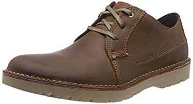 Clarks 男士 Vargo Plain 德比鞋, Braun (Dark Tan Leather) 39.5 EU