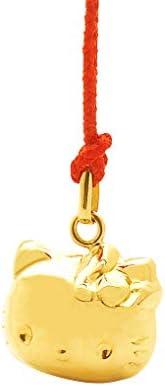 Hello Kitty无 黄金 钥匙链 GNTKT2 金色 红色