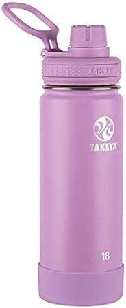 TAKEYA 不锈钢保温水瓶 带水壶盖 18蛊司 淡紫色