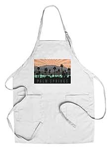"""加利福尼亚棕榈泉 - 棕榈树和山地 """"Multi"""" Chef's Apron LANT-66379-AP"""