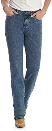Wrangler 女士牛仔修身高腰弹力牛仔裤,