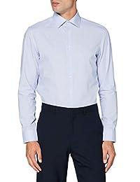 Seidensticker 男士修身长袖格子免熨烫经典衬衫