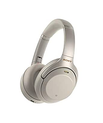 Sony 索尼 WH-1000XM3 无线降噪耳机(30小时续航,快速充电,手势控制,环绕声模式),银色