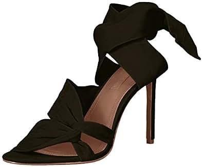 BCBGMAXAZRIA 女式 Emma 礼服高跟凉鞋 黑色 8 M US
