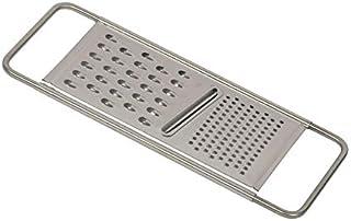 Reiss 不锈钢土豆研磨器   可用洗碗机清洗,易于存放水平碎纸机,适用于土豆、巧克力、奶酪、蔬菜等 亮灰色 Universal Grater