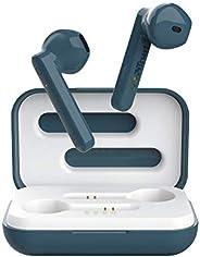 Trust Mobile Primo Touch 蓝牙真无线耳机耳塞(长达 10 小时播放时间,内置麦克风,TWS,10 米范围)蓝色