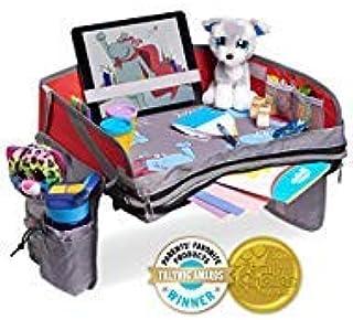 Hippococo 儿童旅行托盘:高级便携式活动收纳袋,无细腻,加厚底座,大储物袋,坚固的墙壁,防水,平板电脑支架,通用型 - 汽车座椅,婴儿车和飞机