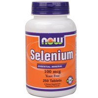 Selenium, 100mcg, 250 Tabs by Now Foods (Pack of 6)