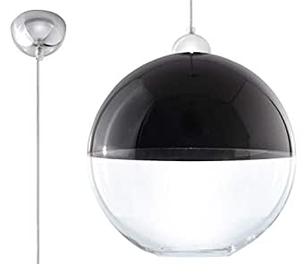 Sorux Lighting GINO 吊灯,玻璃,黑色,铬