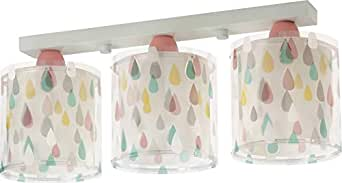 Dalber 彩色雨 Regleta 3 灯 E27,多色