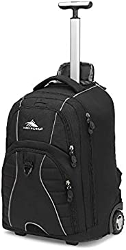 High Sierra Freewheel Wheeled Book Bag Backpack, Black,One Size