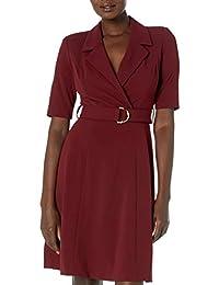 Calvin Klein 女士 Elbow Sleeve A 字型大衣连衣裙