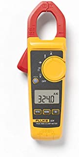 Fluke 324 40/400A AC, 600V AC/DC True-RMS Clamp Meter with Temperature, Capacitance Measurements